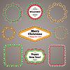 Weihnachten Perlen Girlanden Rahmen mit Textfreiraum Set