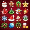 Set von Weihnachts-Icons