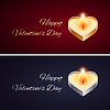 Einfache Valentinstag-Karte mit goldenen und silbernen