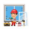 Carpenter Installiert New Window
