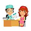 Lady Arzt, der Verordnung zu ihrer weiblichen