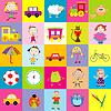 Hintergrund für Kinder mit Spielzeug
