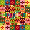 Pochodzenie etniczne motywy, dywan z ornamentem ludowym | Stock Vector Graphics
