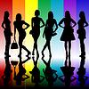 Мода фон с еще юные силуэты | Векторный клипарт
