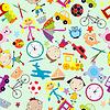 Nahtlose Muster für Kinder mit Spielzeug