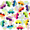 Nahtlose Hintergrund mit farbigen Spielzeugautos