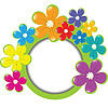 Spring floral frame with place for your text | 向量插图