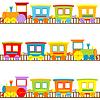 Фон для детей с мультяшныйа поездов | Векторный клипарт