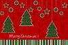 Рождественские украшения карты | Векторный клипарт