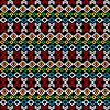 Ethnische Teppich, nahtlose Hintergrund mit geometrischen