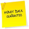 Gwarantowany zwrot pieniędzy po to | Stock Vector Graphics