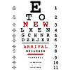 Neue Ankunft Werbung mit optischen Augentest verwendet