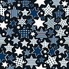 无缝图案背景与程式化的明星 | 向量插图