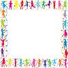 Ramki z dzieci sylwetki | Stock Vector Graphics