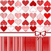 Kartkę z życzeniami z serca i dziobu stylizowanej | Stock Vector Graphics