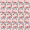 Векторный клипарт: Мультяшный слоны фон