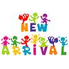 Nowa koncepcja PRZYJAZD z dziećmi | Stock Vector Graphics