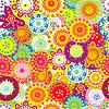 Красочный цветочный бесшовный фон | Векторный клипарт