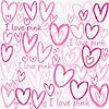 Ich liebe rosa Hintergrund mit Herzen