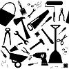 Nahtloser Hintergrund mit DIY oder zu Hause Reparatur-Werkzeuge