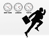 Geschäftsmann läuft | Stock Illustration
