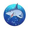 Векторный клипарт: Иллюстрация злой акулы