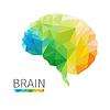 Векторный клипарт: Мозг многоугольник