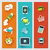 Векторный клипарт: Набор плоских концепциями дизайна бизнес-стратегии