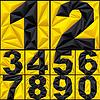 Векторный клипарт: полигон абстрактные цифры