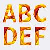 Векторный клипарт: Абстрактный алфавит