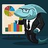 Векторный клипарт: акула бизнеса