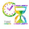 Векторный клипарт: Время полигон