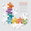 Векторный клипарт: Хронология инфографики