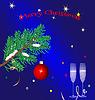 Weihnachten blauen Hintergrund | Stock Vektrografik