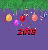 Weihnachten Hintergrund mit Tannenzweigen, bunte