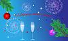 Blauer Weihnachtshintergrund | Stock Vektrografik
