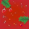 Weihnachten Hintergrund mit Tanne branche