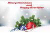 Векторный клипарт: Рождество и Новый год открытка