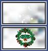 Векторный клипарт: Рождественский венок карта