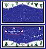 Векторный клипарт: Поздравительная открытка с Дедом Морозом
