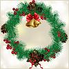 Векторный клипарт: Рождественский венок