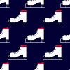 Векторный клипарт: бесшовные зимний узор с коньками