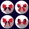 Векторный клипарт: плоским набор Bowes