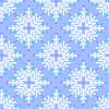 Векторный клипарт: Бесшовный узор со снежинками