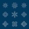 Векторный клипарт: с множеством белых снежинок