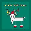 Векторный клипарт: С Новым Годом открытки с козой