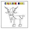 Векторный клипарт: Коза - книжка-раскраска