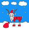 Векторный клипарт: Рождество козел