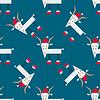 Векторный клипарт: бесшовные модели с Рождеством козла
