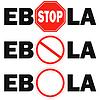 Векторный клипарт: 3 знак остановки вирус Эбола